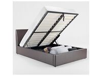 **QUALITY ASSURED**KING SIZE**STORAGE LEATHER BED AND MEMORY FOAM LUXURY MATTRESS - BRAND NEW - SALE