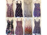 Bundle of size 8 summer dresses job lot holiday mini strappy dress