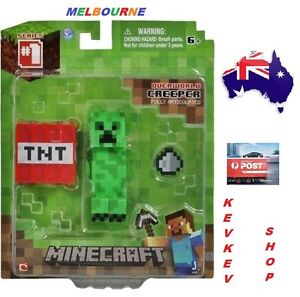 MINECRAFT CREEPER OVERWORLD WITH ACCESORIES character toy figurines CAKE TOPPER