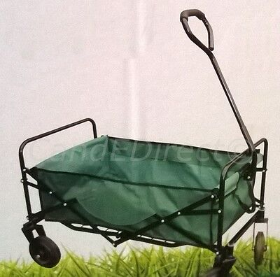 Steel Framed Outdoor Wheeled Large Folding Garden Cart 100kg Load Capacity NEW