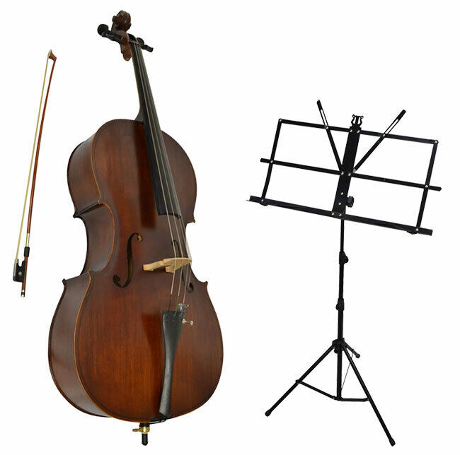 Sotendo 1/8 Size Student Cello Set with Music Stand