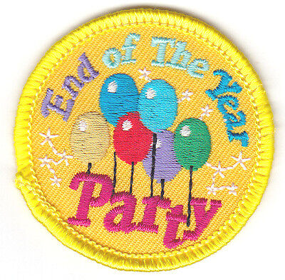 """""""END OF THE YEAR PARTY""""  Iron On Embroidered Patch School Celebration"""