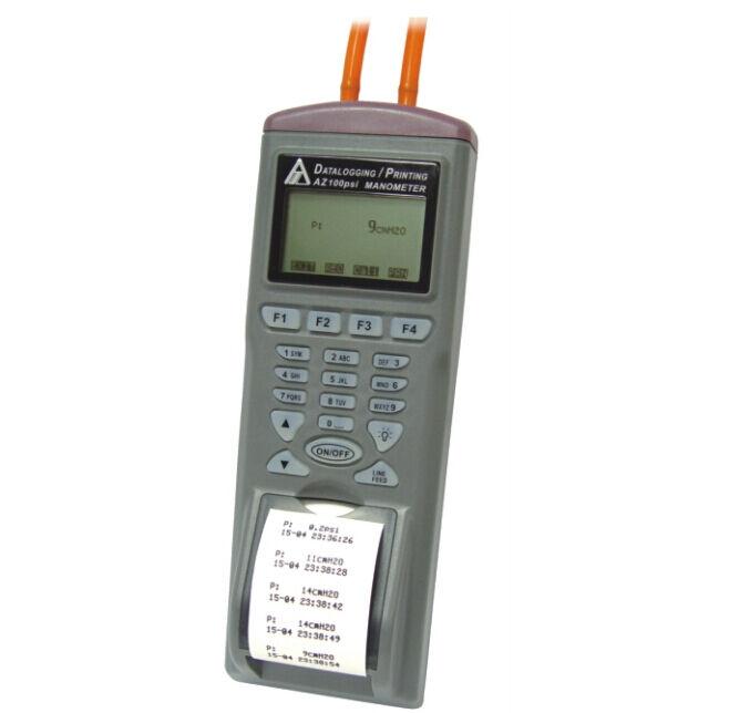 Differential Pressure Meter Manometer 100PSI Data Logger Built-in Printer RS232