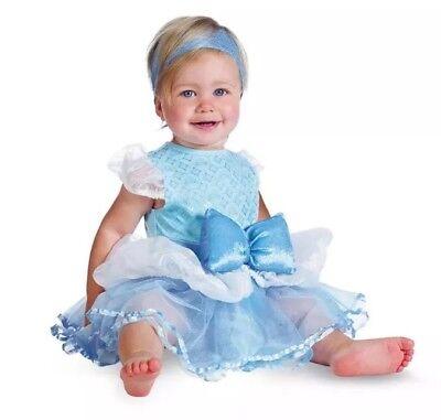 Disguise Disney Baby Girl Cinderella Halloween Infant Dress Costume  Sz 6-12 mo ()