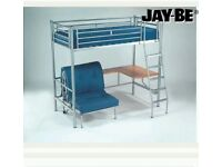 JB HIGHSLEEPER BED Metal great condition very strong
