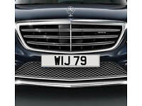 WIJ 79 - Price Includes DVLA Fees - Cherished Personal Private Registration Number Plate