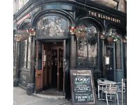 BAR STAFF REQUIRED - PART TIME