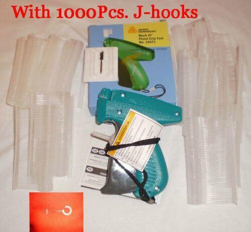 Avery Dennison Clothing Price Tagging Gun Craft W/ 1000 J- Hook Barbs Fasterner