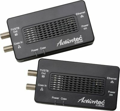 Actiontec - Bonded MoCA 2.0 Wired Network Adapter (2-Pack)