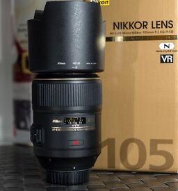 Nikon AF-S 105mm f/2.8G ED-IF VR Micro Lens