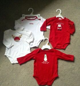 4 Onesies, size 3-6 months -$8