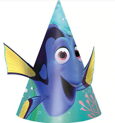 FINDING DORY birthday party supplies CONE HAT 8 Disney favors Nemo