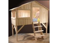 Kids Treehouse single bed in Solid Limewood by Mathy De Bols RRP £1600