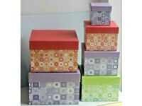 Brand New Nest of 6 Beautiful Sturdy Gift Boxes * Stock from Shop Closure