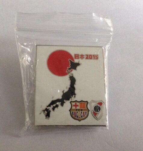 **Club World Cup Japan 2015 PINS BADGE FC BARCELONA vs RIVER PLATE (barca CARP)