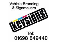 Sign makers, Vehicle graphics, Design & installation, Over 30 years experiance