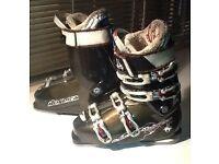 SUREFOOT NORDICA ladies, slim foot, ski boots in black. UK ladies Size 7.
