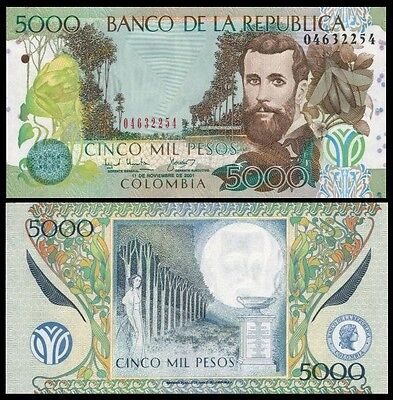 Colombia 5000 Pesos 2006 UNC**New Date