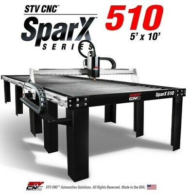 Stv Cnc 5x10 Plasma Cutting Table Sparx510 - Made In The Usa