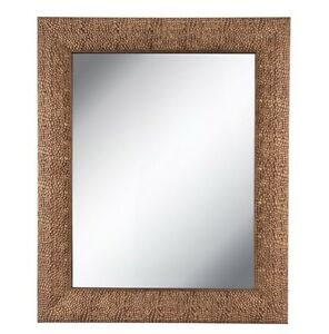 HAMMERED COPPER FRAMED METAL WALL MIRROR 35