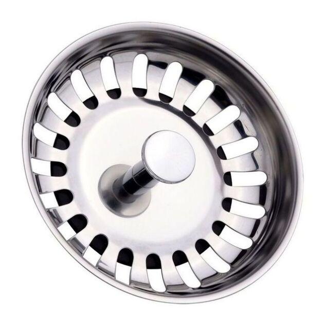 2x kitchen sink basket strainer waste plug without overflow fitting 80mm. Interior Design Ideas. Home Design Ideas