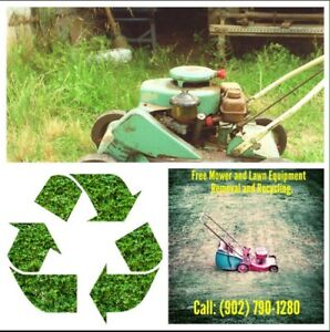 Free Removal Of Derelict, Broken Or Unwanted Lawn Equipment