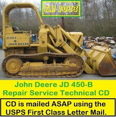 John Deere Jd450-b Crawler Tractor Loader Repair Service Technical Manual Cd