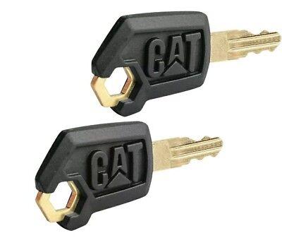2 Caterpillar Heavy Equipment Keys Cat Excavator Cat Dozer Cat Roller Key