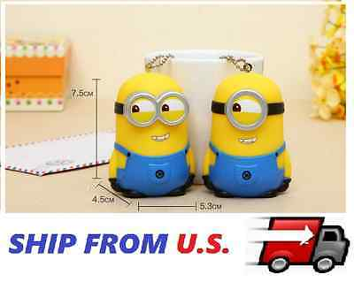 2 x NEW Minion Keychain Despicable Me 3D Minions toy Keyring Rubber ship from - Minion From Despicable Me