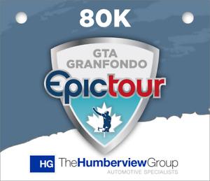 GTA Grandfondo Epic Tour 80K Registration Kit - Sunday Sept. 9.