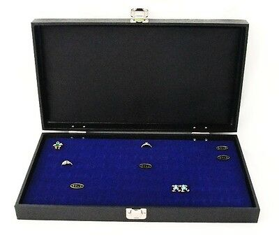 72 Ring Traveling Wood Display Case With Blue Velvet Foam Pad