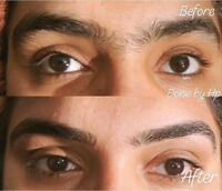 Eyebrows by threading and waxing