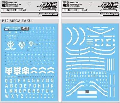 Mega Water Slide - US Seller Gundam water slide decal D.L Dalin Mega Size Green Zaku 1/48 Gunpla