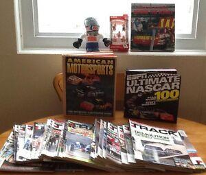 MOTORSPORTS BOOKS, MAGAZINES, MEMORABILIA see all pics  TAKE ALL