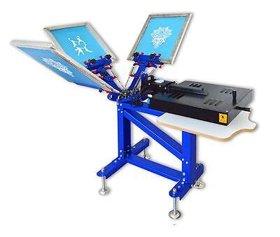 Silk Screen Printing 3 Color Combine Machine 1 Station 1 Dryer Press Equipment