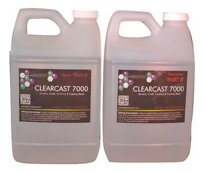 CLEAR EPOXY RESIN CASTING COATING SEALING CURES CRYSTAL CLEAR - Gallon
