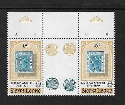1979 Sierra Leone - Death Centenary of Sir Rowland Hill - Gutter Pair - MNH.