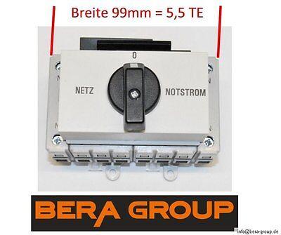 63A 400V Netzumschalter Notstromumschalter Netz Last Umschalter Verteiler Einbau