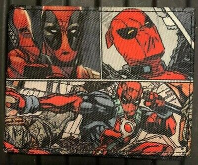 "Deadpool Canvas Wallet- NEW- No Tags  4.5""x3"""