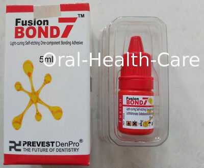Fusion Bond7 Dental One Component Self Etching Light Cured Bonding Adhesive 5ml