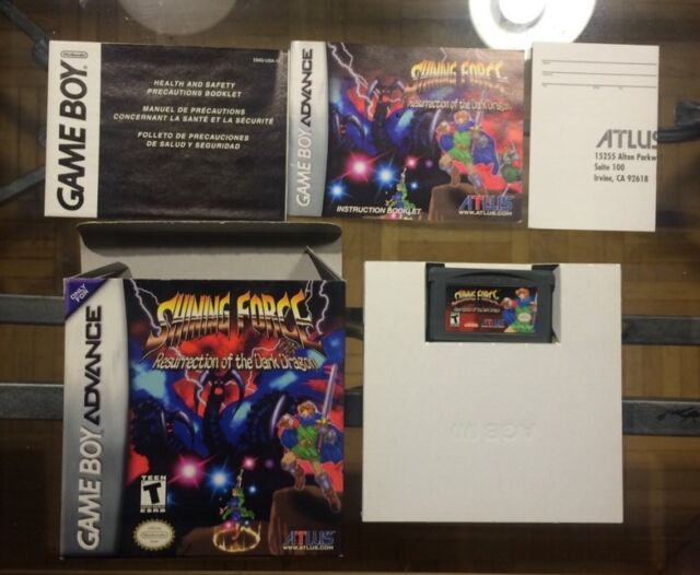 Shining Force: Resurrection of the Dark Dragon Game Boy Advance Complete Gba