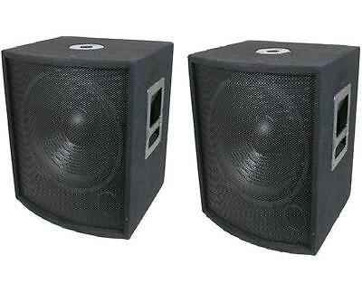 "NEW (2) 18"" SUBWOOFER Speakers PAIR.Woofer Sub w/ Box.DJ.PA.BASS.Pro Audio.Sound"