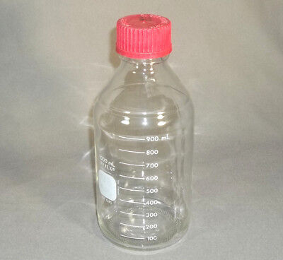 Pyrex Glass 1000 Ml Laboratory Media Reagent Bottle