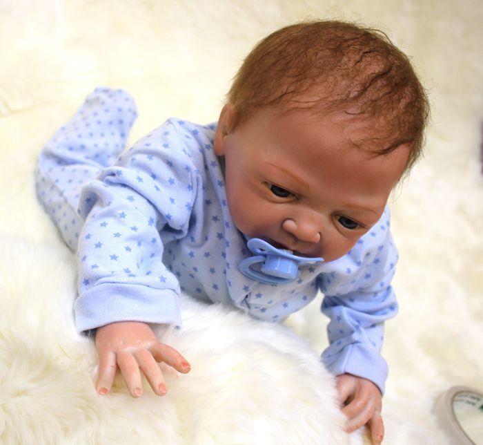 "46cm/18"" Reborn Baby Doll Girl Toddler Handmade Newborn Soft Vinyl Silicone Gift"