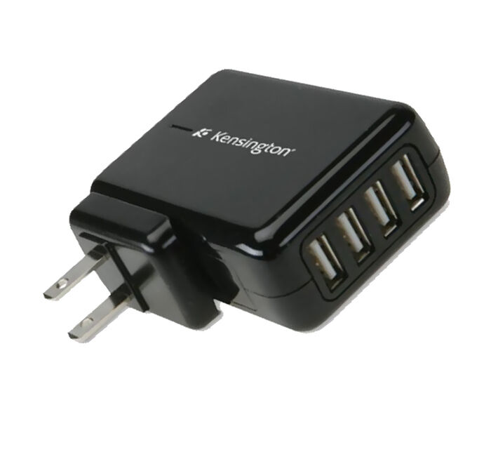 KENSINGTON 4-Port Universal USB Wall Charger
