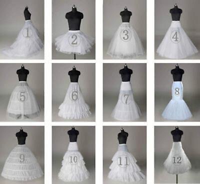 2018 Neu Petticoat Unterrock Kleid Unterkleid Reifrock Ringe Brautkleid Weiß DE