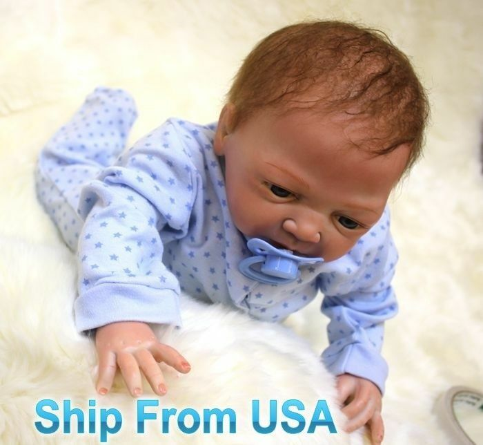 "20""/ 50cm Handmade Baby Boy Lifelike Silicone Reborn Toddler Dolls Vinyl Newborn"
