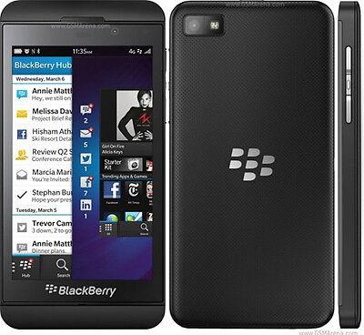 "New Original BlackBerry Z10 16GB Black (Unlocked) Smartphone,8MP,4.2"",GSM,Bar"