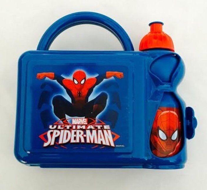 spiderman lunch box Boys Girls case bag school nursery marvel blue