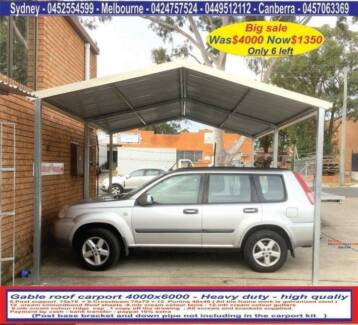 New  gable or flat roof carport sale 4 x 6  $1350 or 4 x 9  $2050 Prestons Liverpool Area Preview